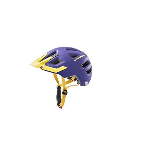 Cratoni Kinderfahrradhelm Maxster Pro, Purple-Yellow matt, Gr. S-M (51-56 cm)