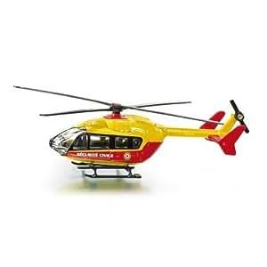 Siku - 1647F - Véhicule Miniature - Modèle À L'Échelle - Hélicoptère Sécurité Civile - Echelle 1/64