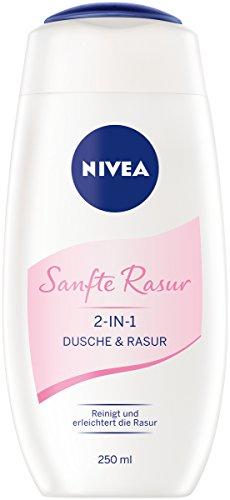 NIVEA Sanfte Rasur 2-in-1 Dusche und Rasur, Duschgel zum gründlichen und sanften Rasieren, 250 ml
