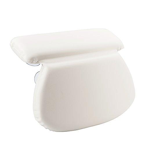 TANBURO Almohada de Bañera Cojin de Baño-Reposacabezas Ortopédico de Espuma para Spa Jacuzzi Hidromasaje - Respaldo Soporte Relajante para Espalda Cuello Cabeza con 7 Potentes Ventosas