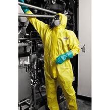 KCP 96770Kleenguard A71con capucha traje de protección contra productos químicos, spray, grande, Amarillo (Pack de 10)