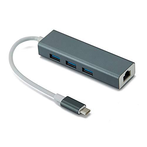 HoganeyVan Typ c USB 3.1 auf RJ45 Gigabit LAN +3.0 HUB RTL8153 ULC28 Chip Upgrade Geschwindigkeit Update-chip