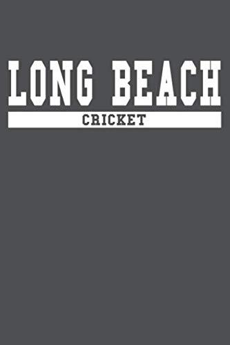 Long Beach Cricket: American Campus Sport Lined Journal Notebook