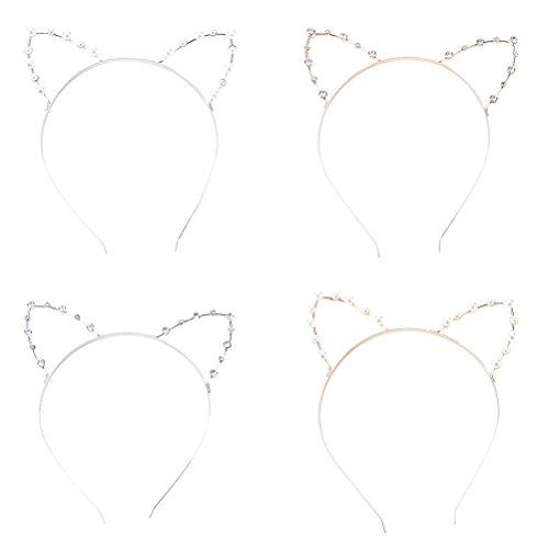 sevenmye-pack-of-4-pearl-rhinestone-cat-kitty-ear-headband-hair-hoop-headband-for-girls-women