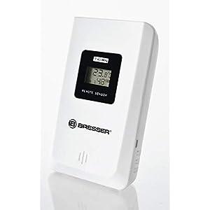 Bresser Thermo/Hygro-Sensor 3CH Weather Station Outdoor Sensor, White, 9.5x6x3 cm