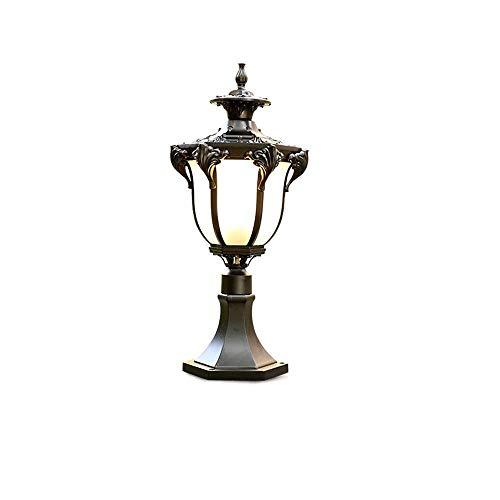 Landschaft Poller (RMXMY Außenleuchten Wegeleuchten Säulenscheinwerfer Outdoor wasserdichte LED Rasenlampe for Villa Tür Säulenlampe Straßenlampe Garten Balkon Landschaft Poller Beleuchtung (Color : B))