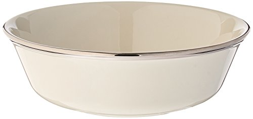 Lenox Solitaire Platinum Banded Ivory China All Purpose Bowl by Lenox Platinum Ivory China