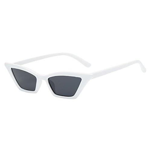 Makefortune Frauen Sonnenbrillen, Frauen-Weinlese-Katzenaugen-Sonnenbrille-Retro- kleiner Rahmen UV400 Eyewear arbeiten Damen-Gläser um (H)