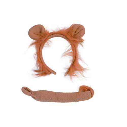 fpengfashion Löwe Stirnband und Schwanz Set Stirnband Kostüm Neuheit ()
