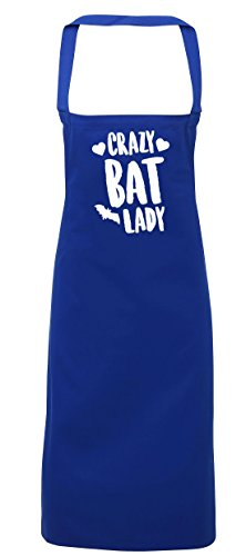 hippowarehouse Crazy Bat Lady Schürze Küche Kochen Malerei DIY Einheitsgröße Erwachsene, königsblau, (Halloween Crazy Kostüme Cat Lady)