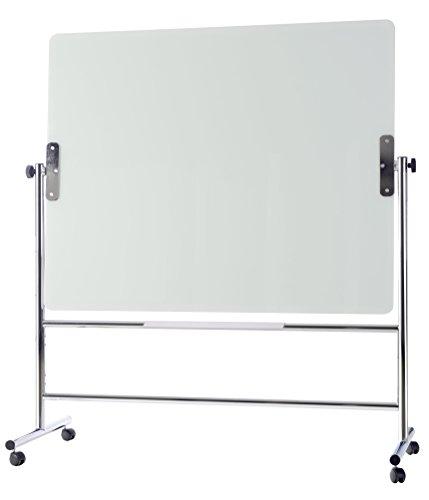 MasterVision GQR0350 Magnetische Glas-Staffelei, trocken abwischbar, zweiseitig, 134,3 x 59,9 x 182,9 cm 60