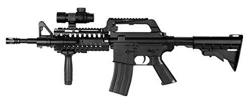 well Airsoft M4 Sir Rifle de Resorte con Accesorios MR733 0.5 Julios