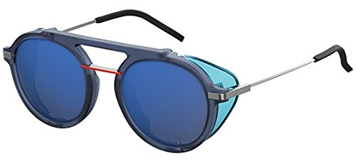 Fendi ff m0012/s xt pjp, occhiali da sole uomo, blu (bluette/gy grey), 52