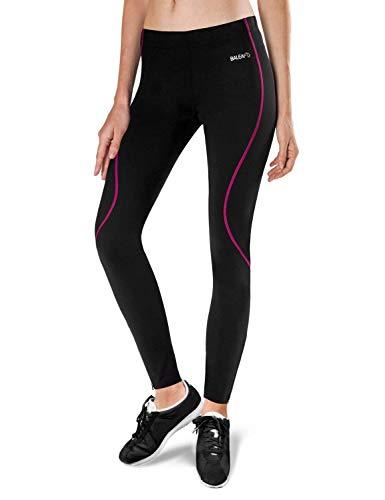 Thermo-Lauf- und Fahrradhose von Baleaf, für Damen Small schwarz / pink