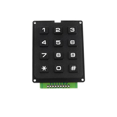 sharplace Modul Tastatur industriellen Digital 12Schalter Knopf 4x 3Tabelle Schwarz (Seifenspender In-schalter)
