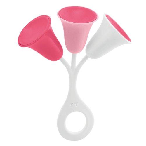 Chicco 2310 giocattolo per bebé, tulipano sonoro, rosa