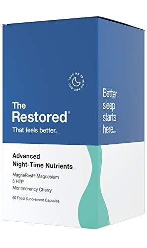 5-HTP, Magnesium, Montmorency Sauerkirsche, natürliches Melatonin-Schlafmittel, Vitamin B-Komplex, Kamille, L-Tryptophan, Hergestellt in Großbritannien von The Restored
