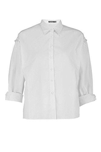 blanc Femmes Elsie Chemise À Détail Perlé Aux Épaules Blanc
