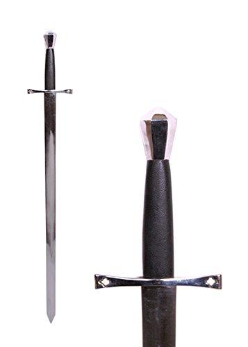 Mittelalterliches Schwert Einhänder aus Stahl Gesamtlänge 96 cm - Metall echt (Mittelalterliches Schwert Aus Kohlenstoffstahl)