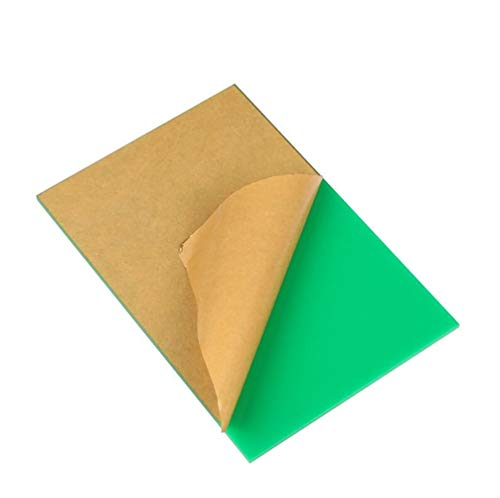 LZYCYF Perspex Grün Acrylglasplatte Polycarbonat UV Platte 1pc-Thick 2mmx400x250mm