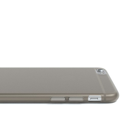 "Apple iPhone 6S / 6 Hülle, EAZY CASE Ultra Slim Cover ""Matt"" - Premium Handyhülle Transparente Schutzhülle, Smartphone Case in Transparent / Weiß Matt Hellgrau"