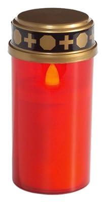Brauns Heitmann 3-er Set - Led Grableuchte, 11 x 5 cm, rot 6747 von Brauns Heitmann GmbH & Co. KG auf Lampenhans.de