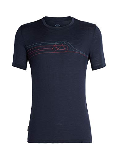 Icebreaker Herren Mens Tech Lite SS Crewe Cadence Pulse T-Shirt, Midnight Navy, XL -