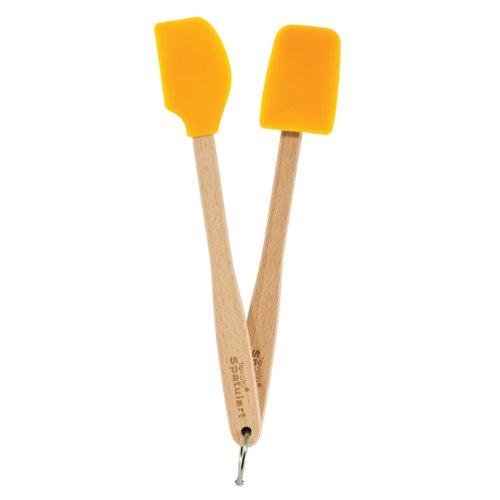 Spoonula Set (Tovolo Mini Silicone Spatula and Spoonula, Orange Peel - Set of 2)