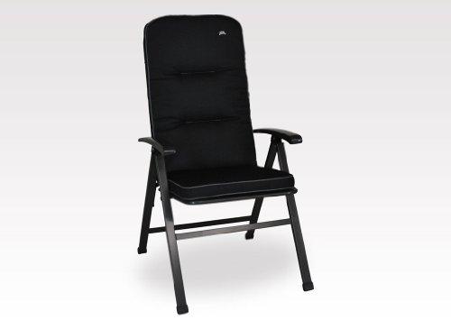 Angerer Coussin de Chaise Style Design Coussin de Fauteuil, Noir, 120 x 50 x 7 cm, 41024/137