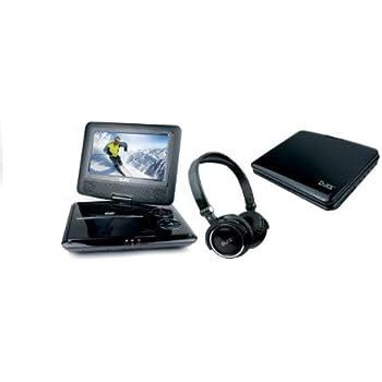 """Lecteur DVD portable D-jix PVS 705-79CAN Noir + Casque écran rotatif 7"""" USB carte SD Xvid"""