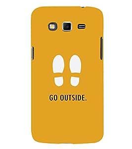 FUSON Footprints Go Outside 3D Hard Polycarbonate Designer Back Case Cover for Samsung Galaxy A8 (2015) :: Samsung Galaxy A8 Duos (2015) :: Samsung Galaxy A8 A800F A800Y