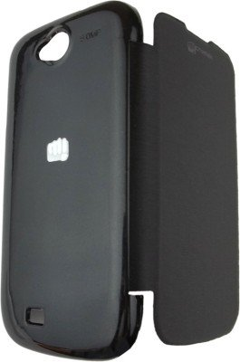 2dots Flip Back Cover Case for Micromax A93 [ black)  available at amazon for Rs.105
