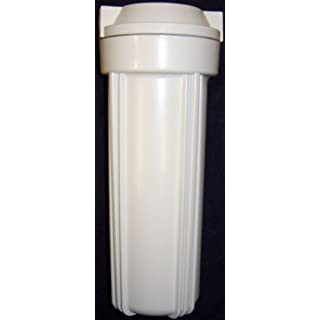 White filter housing sump for reverse osmosis 10 RO canister 1/4 by AFW Filters