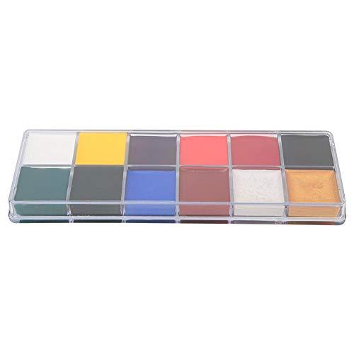 Gesicht Körperfarbe Set 12 Farben Make-up-Set Hypoallergen Safe Ungiftig Leicht zu malen und auszuwaschen(12 Farben)