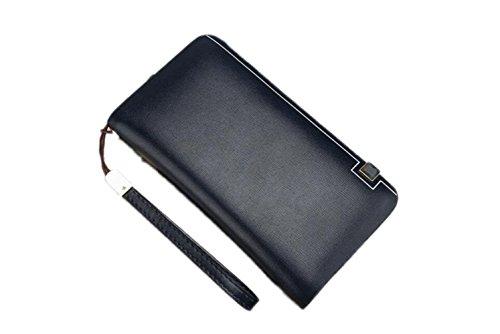 Herrenbrieftasche Casual Business Handtaschen Große Kapazität Herren Handtaschen Lange Brieftaschen Kupplung,Blue-OneSize - Benutzerdefinierte Handtaschen Aus Leder