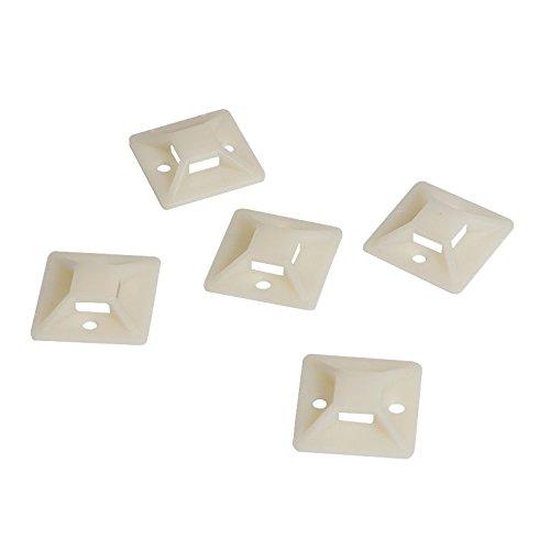 Preisvergleich Produktbild Logilink Selb Stücklebende Kabelbinderhalterungen 25 x 25 mm, 100 Stück, KAB0043