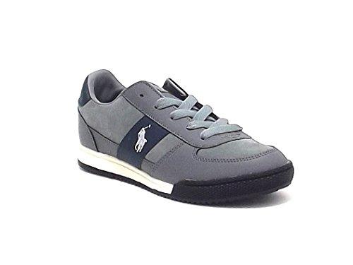Polo Ralph Lauren scarpa bambino, grey speed, sneakers in pelle e camoscio, colore grigio