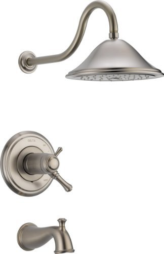 Delta Faucet T17T497-SS Cassidy MultiChoice 17T Series Tub and Shower Trim, Stainless by DELTA FAUCET -