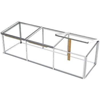 Simplicity Cold frame 2ftx6ft Mini Greenhouse Toughened glass ...