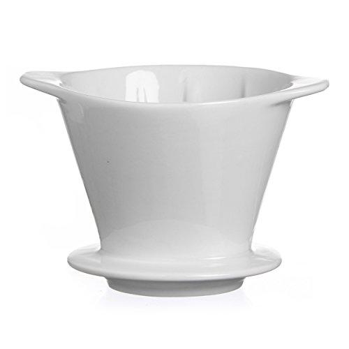 Ritzenhoff & Breker Rio Kaffeefilter Größe 101, Handfilter, Filtereinsatz, Porzellan, Weiß, 38231