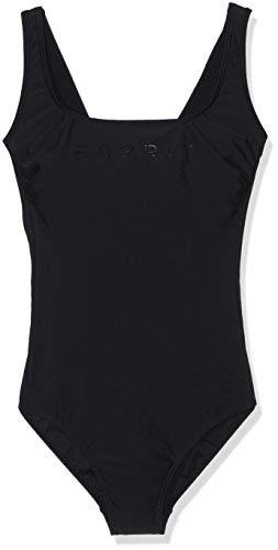 ESPRIT Bodywear Damen 996EF1A971 Einteiler, Schwarz (Black 001), 40D
