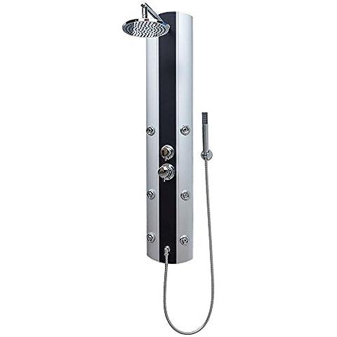 Pannello doccia pannello doccia colonna doccia sistema doccia grande doccia pioggia con 6ugelli di massaggio (Pioggia In Testa La Doccia Pannello)