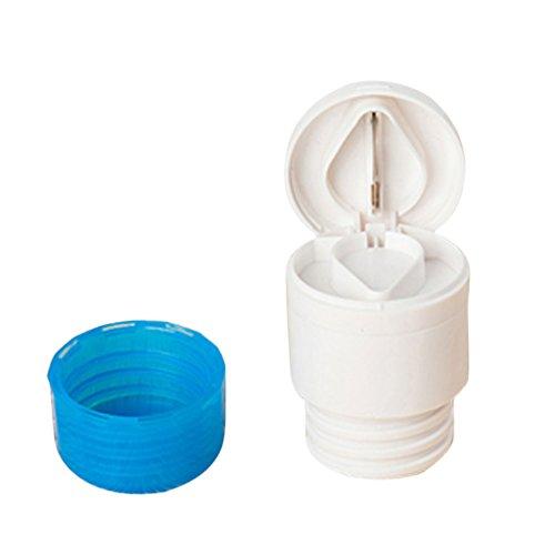 2-in-1 Tablettendose Pillendose mit Pille Schneider Cutter - Blau