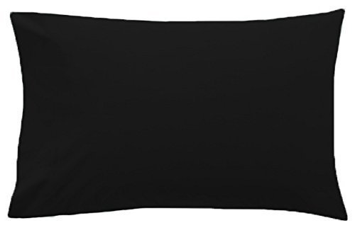 2-x-luxury-pillow-cases-polycotton-pair-pack-housewife-bedroom-pillow-cover-humlin-black-by-humlin