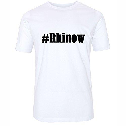 T-Shirt #Rhinow Hashtag Raute für Damen Herren und Kinder ... in den Farben Schwarz und Weiss Weiß