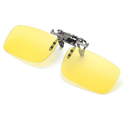 Clip lunettes de soleil amovible Elyseesen Détachable Night Vision objectif conduite polarisée à Clip lunettes lunettes de soleil (Brown) z1A0EY2tHD
