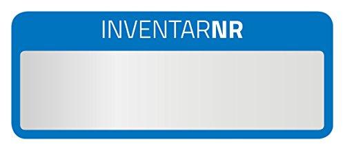 AVERY Zweckform 6906 Inventar-Etiketten (50 Stück, strapazierfähig, 50 x 20 mm) 10 Bogen blau