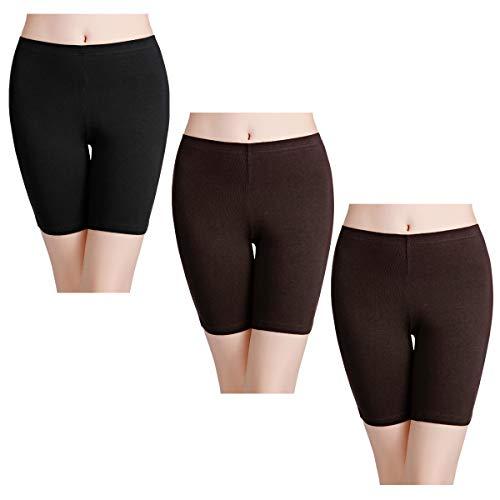 wirarpa Damen Slip Baumwolle Boyshorts Anti-Scheuern Stretch Unterwäsche für Fahrrad Yoga Gym Lange Beine Panty Multipack - - 35 DE XX-Large -
