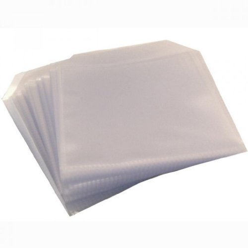 four-square-media-25-cd-dvd-disc-clear-cover-cases-plastic-150-micron-sleeve-wallet-25-pack