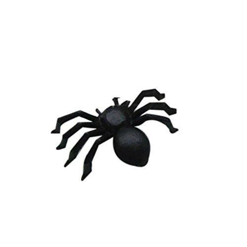 Eliasan 20 Stücke Halloween Requisiten Halloween Kunststoff Schwarze Spinne Scherz Spielzeug für Kinder Spielzeug Geschenk Party Decor Indoor Urlaub (Cupcake Kostüm Muster Für Halloween)